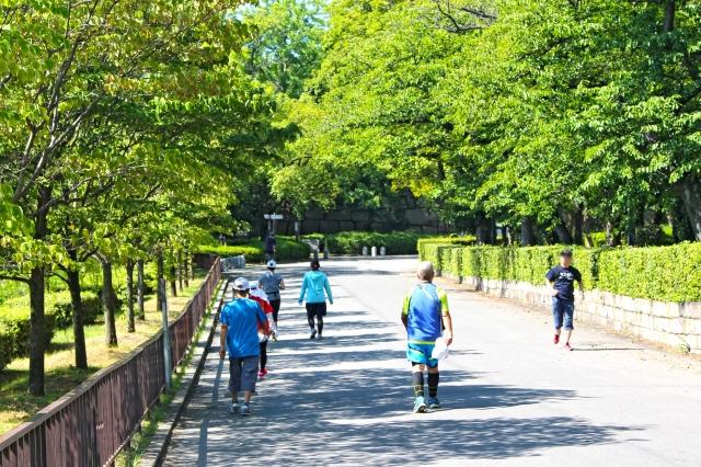 城 駐 車場 公園 大阪