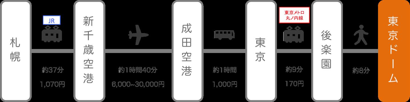 東京ドーム_北海道_飛行機