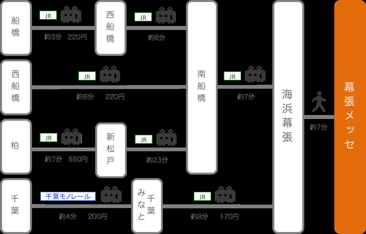 幕張メッセ_千葉_電車