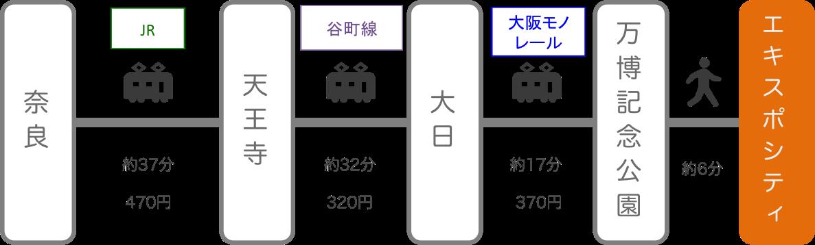 エキスポシティ_奈良_電車