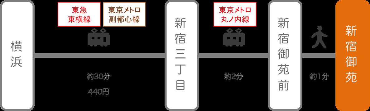 新宿御苑_横浜(神奈川)_電車