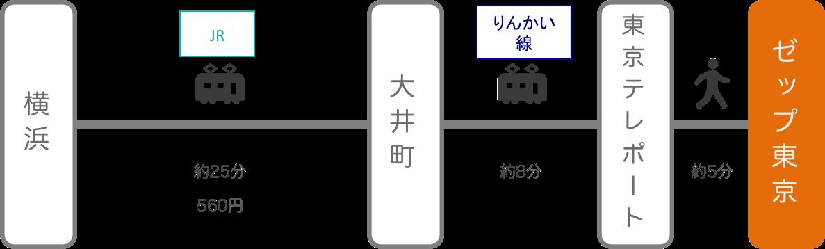 Zepp東京_横浜(神奈川)_電車