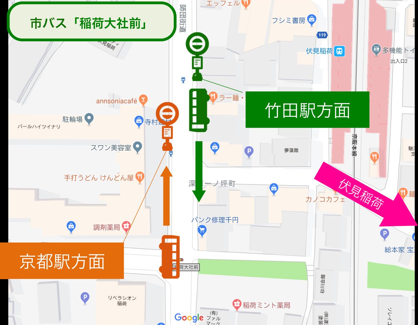 伏見稲荷_市バス_地図