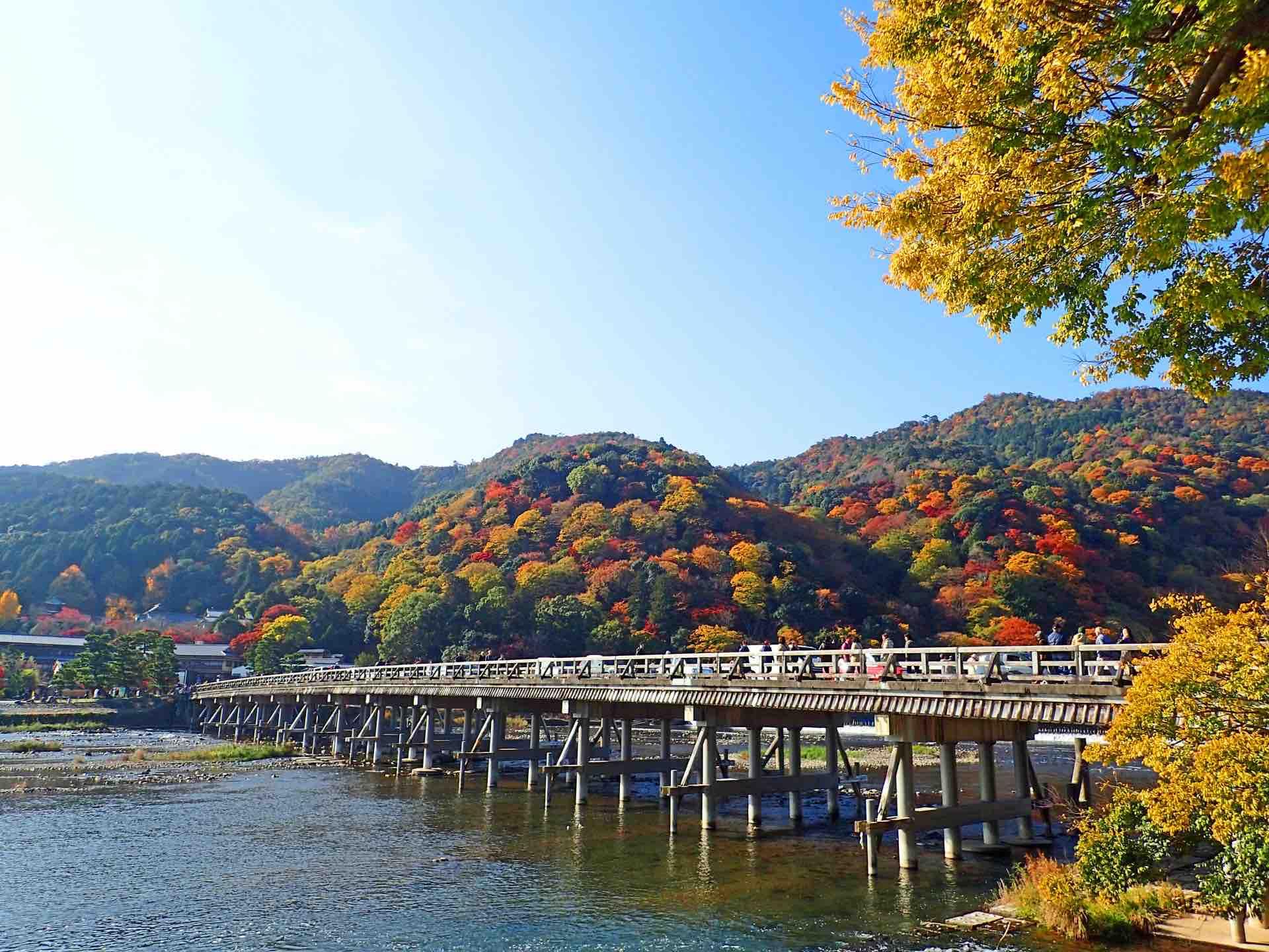 嵐山_紅葉_渡月橋