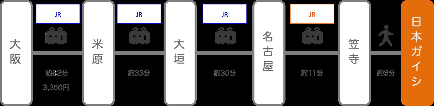 日本ガイシホール_大阪_電車
