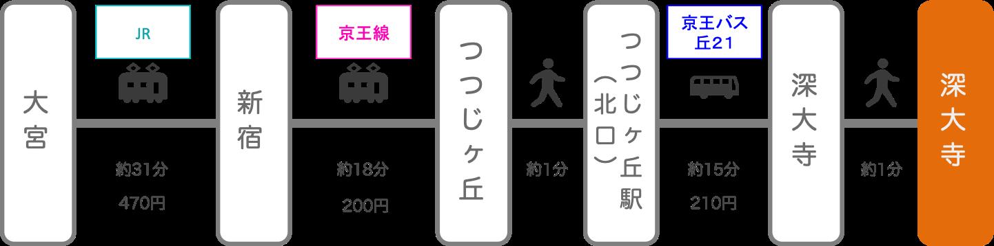 深大寺_大宮(埼玉)_電車