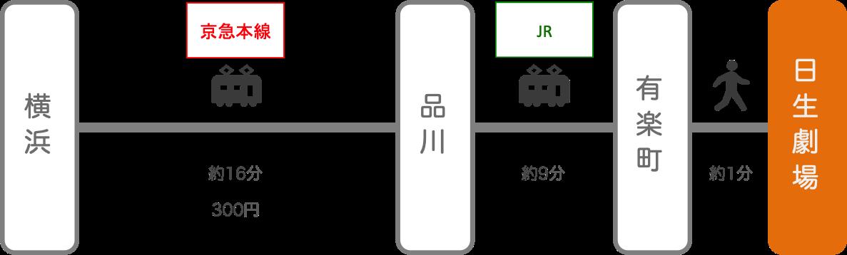 日生劇場_横浜(神奈川)_電車