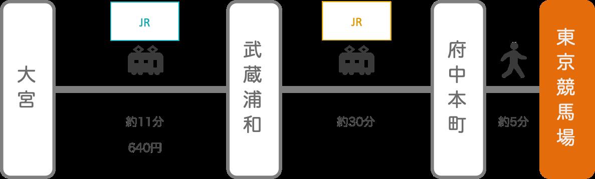 東京競馬場_大宮(埼玉)_電車