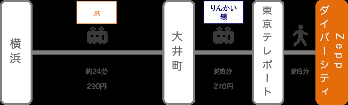 Zeppダイバーシティ_横浜(神奈川)_電車