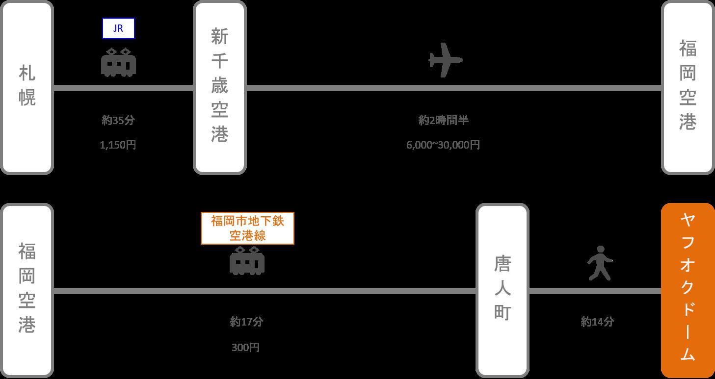ヤフオクドーム_北海道_飛行機