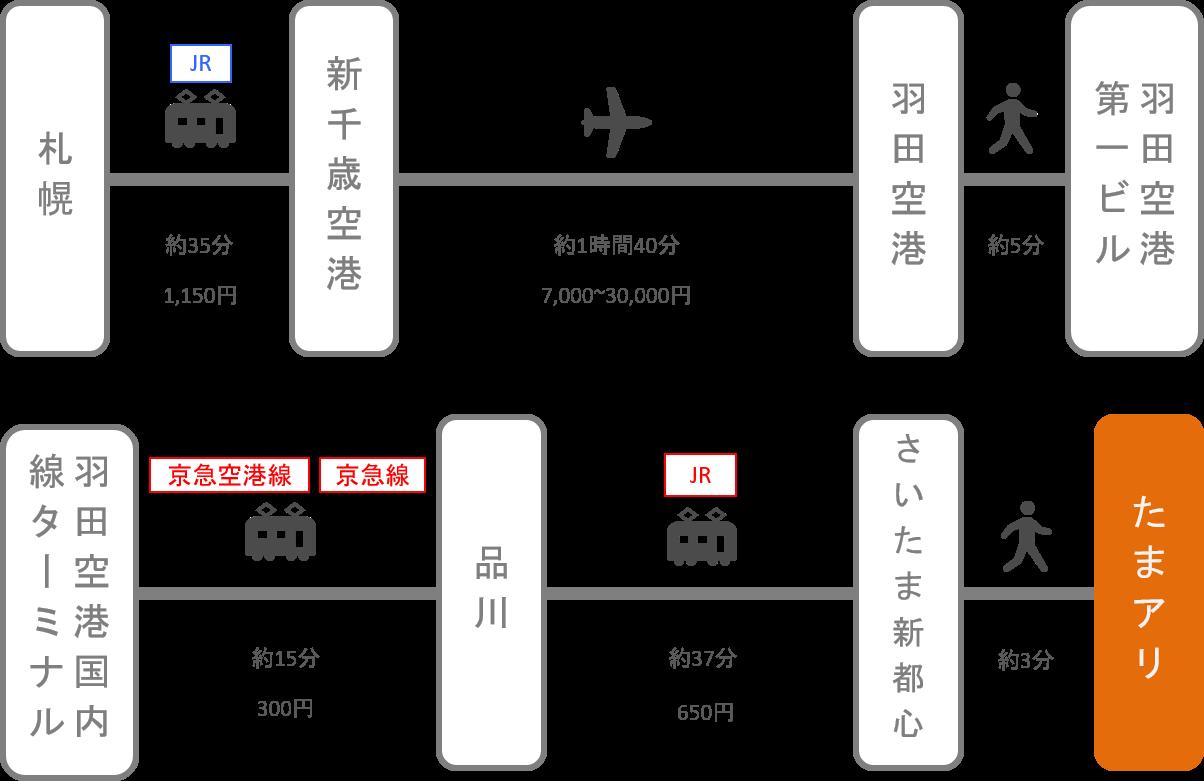 さいたまスーパーアリーナ_北海道_飛行機