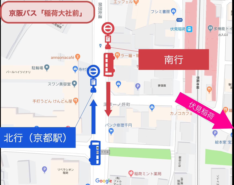 伏見稲荷_京阪バス_地図