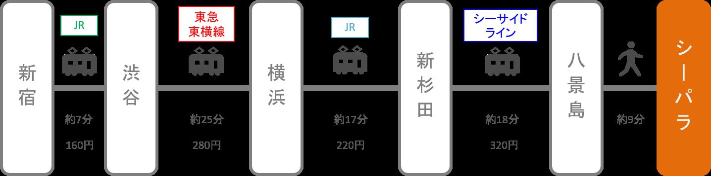 八景島シーパラダイス_新宿(東京)_電車