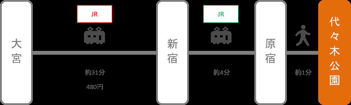 代々木公園_大宮(埼玉)_電車